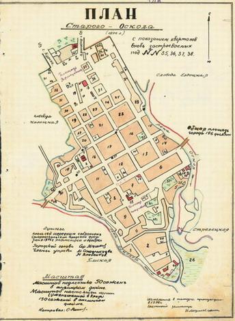 Карта Г Старого Оскола