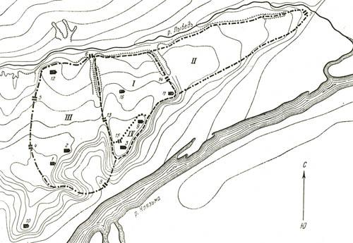 Схема города Владимира 13 век