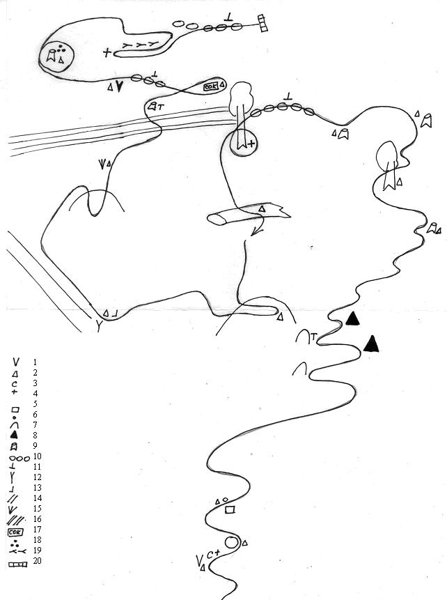 Схема тропления следовой